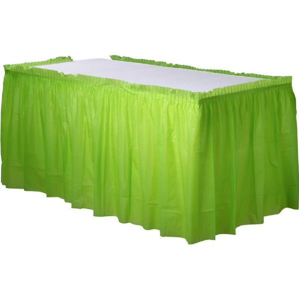 Kiwi Green Plastic Table Skirt